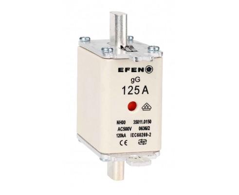 N Wkładka bezpiecznikowa Gr.00 125A AC 500V gG
