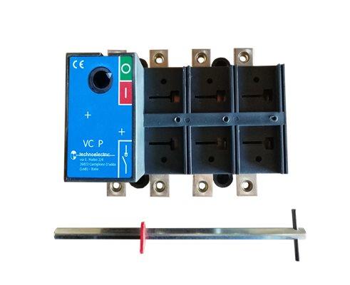 TE Rozłącznik VC1P 0-1 32A 4P TH35 bez napędu