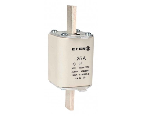 N Wkładka bezpiecznikowa szybka Gr.1 25A AC 500V gF