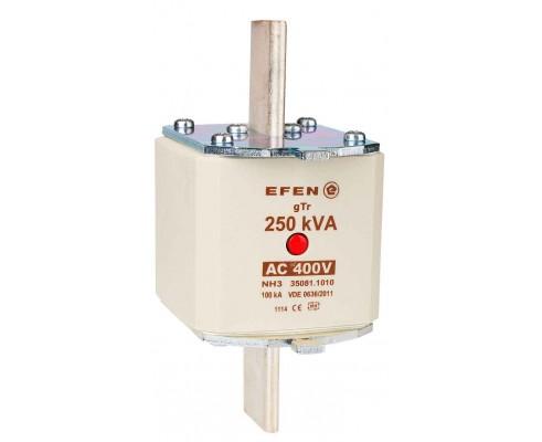 N Wkładka bezpiecznikowa Gr.3 250kVA AC 400V gTr