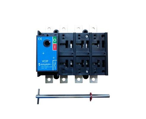 TE Rozłącznik VC2P 0-1 200A 4P TH35 bez napędu