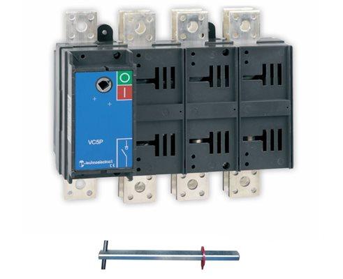 TE Rozłącznik VC5P 0-1 1600 (50kA)A 4P TH35 bez napędu