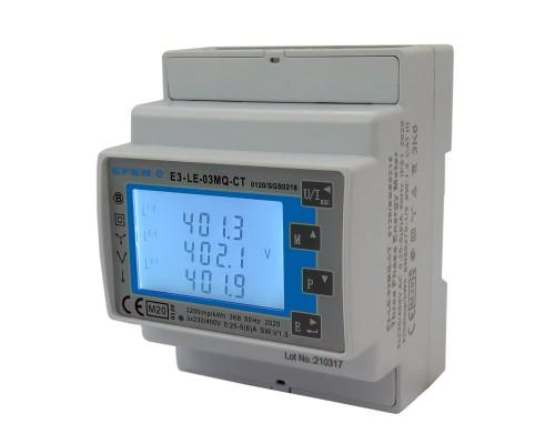 Licznik zużycia energii elektrycznej 3-fazowy, dwukierunkowy,taryfowy LE-03MW-CT